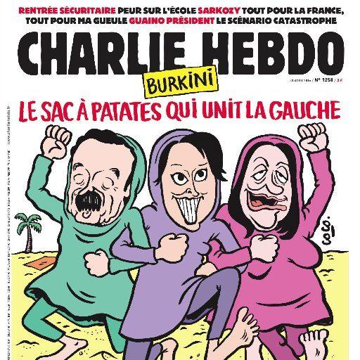 """#NOBAVAGLIO/ Satira sul terremoto, Pennac: """"Disegno idiota, ma difendo ancora la libertà di Charlie Hebdo"""" foto by twitter"""