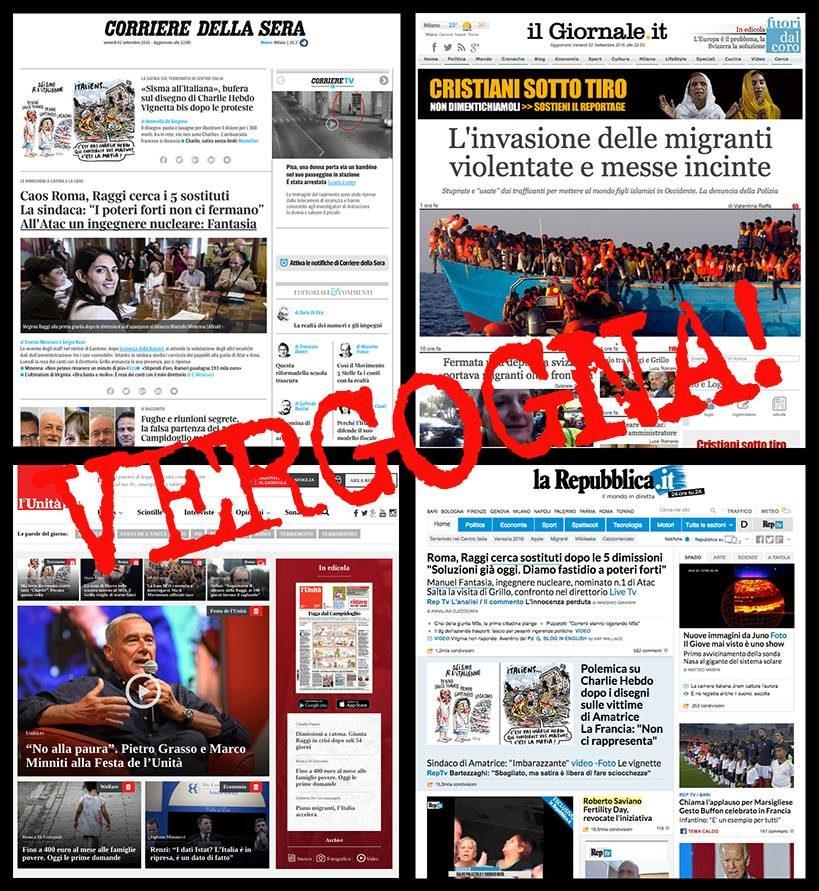 """#NOBAVAGLIO/  PUNTIdiVISTA – """"La vergogna del silenzio stampa sul terremoto… altro che Charlie Hebdò"""" di Pietro Vanessi PV by Fare satira oggi"""