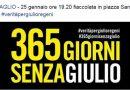 #NOBAVAGLIO in piazza il 25 GENNAIO ore 19. 20 alla fiaccolata di Amnesty per GIULIO REGENI – piazza San Lorenzo in Lucina