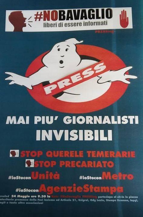 #NOBAVAGLIO/ Passaparola! 🗣#MaiPiuGiornalistiINVISIBILI : il 24 maggio tutti in piazza Montecitorio