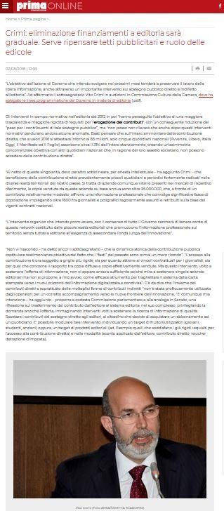 RETE #NOBAVAGLIO / Crimi tra minacce di tagli all'editoria e di abolizione dell'Odg