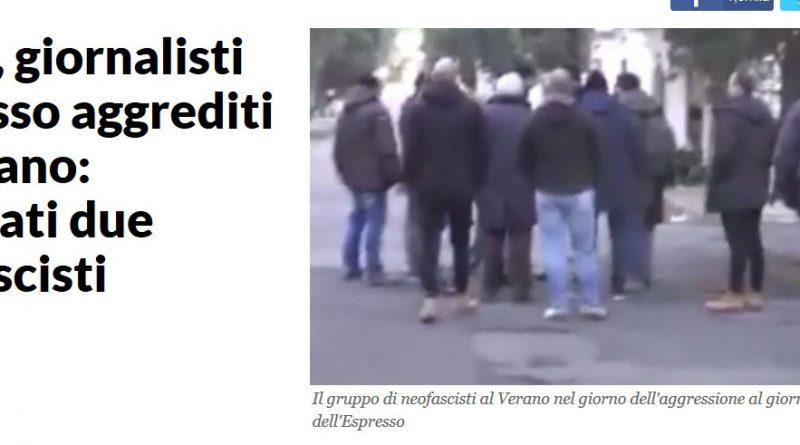 Aggressione ai giornalisti dell' Espresso: due arresti