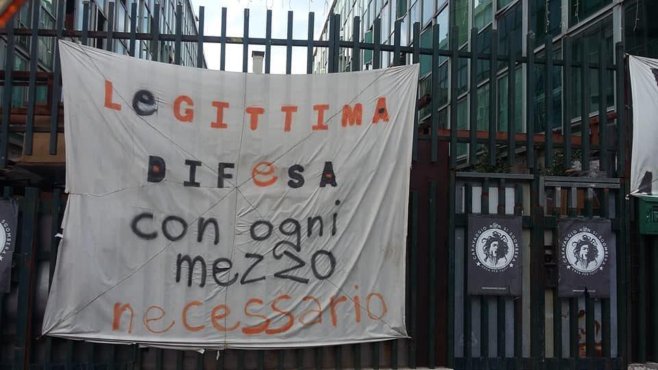 Occupazione Caravaggio, assemblee e staffette anti-sfratto