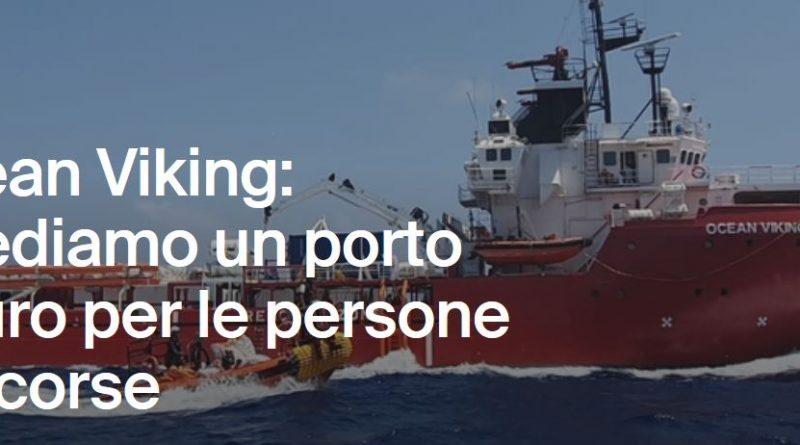 """RETE #NOBAVAGLIO: """"Ocean Viking, fateli scendere"""""""