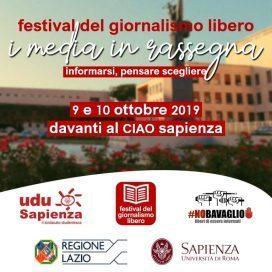 A Roma, a La Sapienza il FESTIVAL DEL GIORNALISMO LIBERO – INFORMARSI/PENSARE/SCEGLIERE